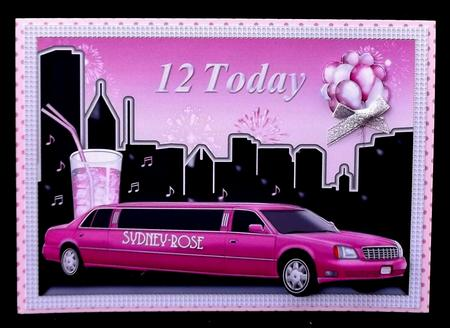 Pink Limo 12 in Card Gallery