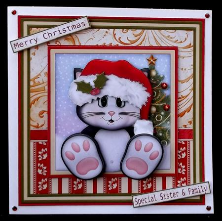 PURRFECT CHRISTMAS Mini Kit & Decoupage in Card Gallery