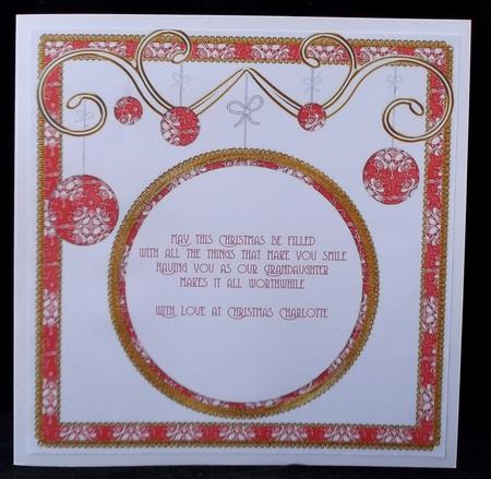 Latest Upload - Red Diddy Flakes Christmas Bauble 8in Insert Panel