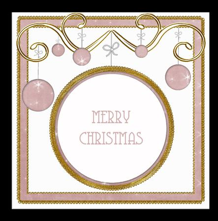 Pink Star Twinkles Christmas Bauble 8in Insert Panel in Card Gallery