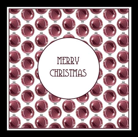 Pink Christmas Baubles Insert 8x8 in Card Gallery