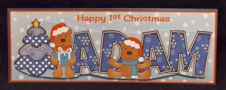 First Christmas Teddies Adam Large Dl in Card Gallery