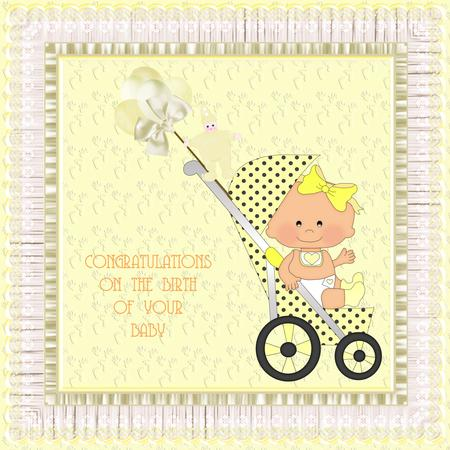 Stroller Babies Clipart New in Card Gallery