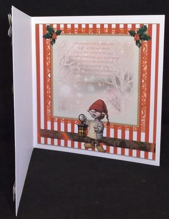 Insert to Compliment the Carol Singer in Card Gallery