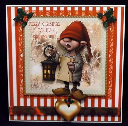 The Carol Singer Card Front Kit in Card Gallery