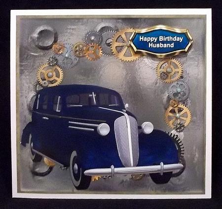 Blue Vintage Car in Card Gallery