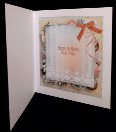 White Boot Insert in Card Gallery