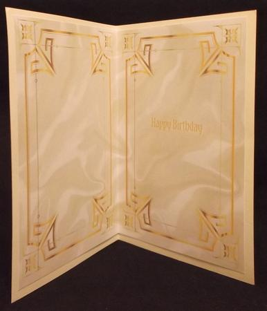 Gold Ornate Frames and Cream Satin A5 Insert in Card Gallery
