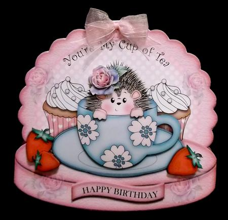 Teatime Hedgy in Card Gallery