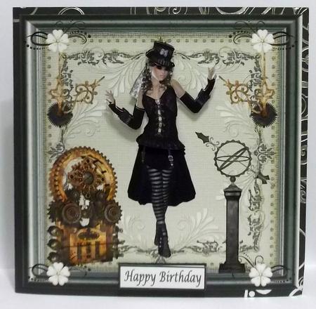 Steampunk Girl Topper in Card Gallery