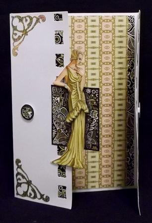Lady in Yellow Dress Backing 1 in Card Gallery