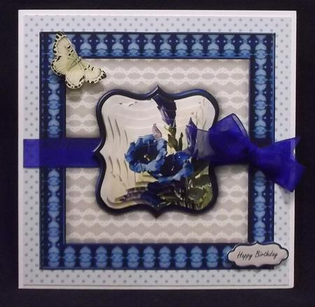 Gentian and Butterfly 8x8 Mini Kit in Card Gallery