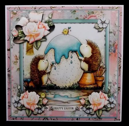 Eggceptional Hedgehog Easter Card Front in Card Gallery