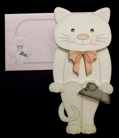 3D on the Shelf Card Kit - Little White Cat Bella in Card Gallery