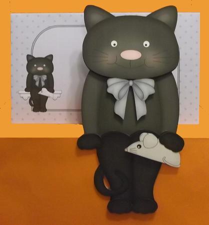3D on the Shelf Card Kit - Little Black Cat Sooty in Card Gallery