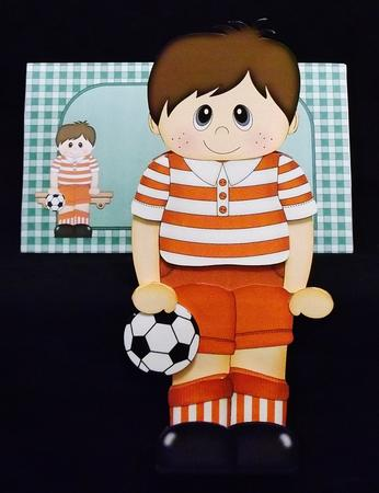 3D on the Shelf Card Kit - Football Boy Brian in Card Gallery