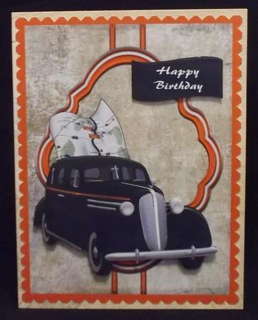 Car Male Topper in Card Gallery