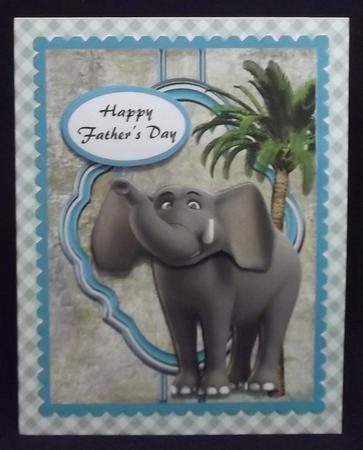 Elephant Male Topper in Card Gallery
