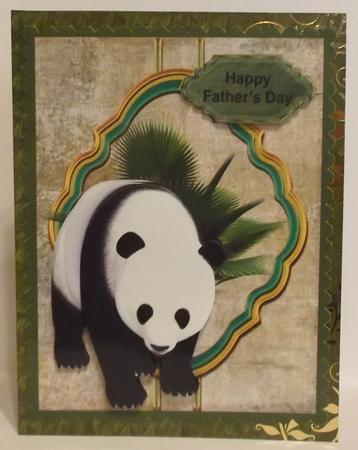 Panda Male Topper in Card Gallery