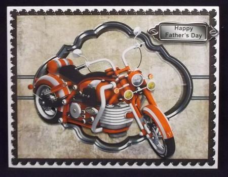 Bike Male Topper in Card Gallery