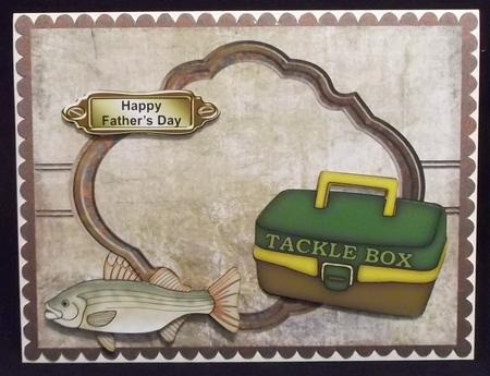 Fishing Male Topper in Card Gallery