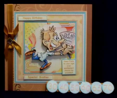 Lottery Winner All Occasions 8x8 Mini Kit, Ages & Decoupage in Card Gallery