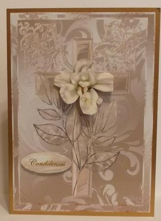 Pearl Cross Sympathy/easter - in Card Gallery