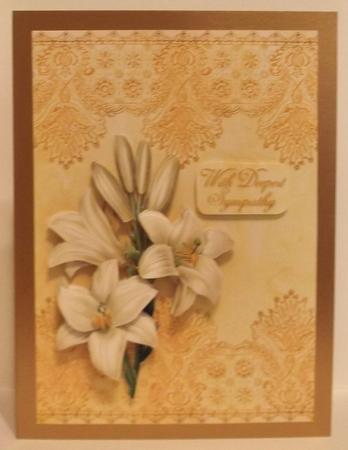 Vintage Floral 74, Lilies in Card Gallery