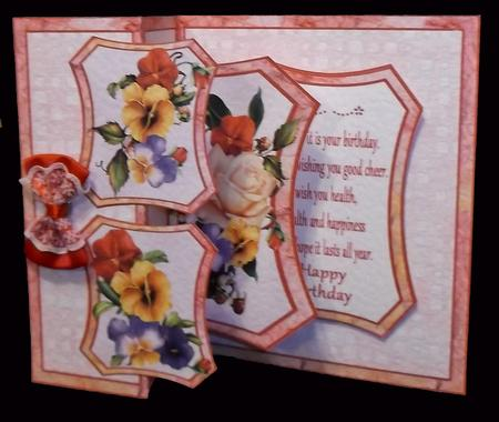 Fold Back Pop-up Pansies & Roses in Card Gallery