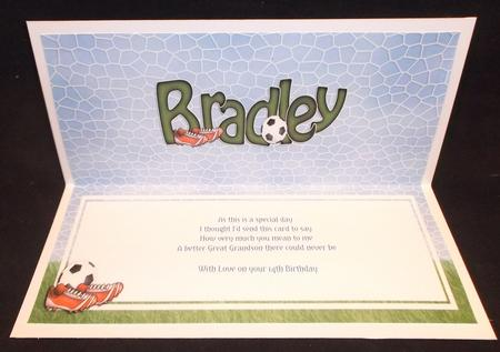 Large Dl Birthday Bradley Football Matching Insert in Card Gallery
