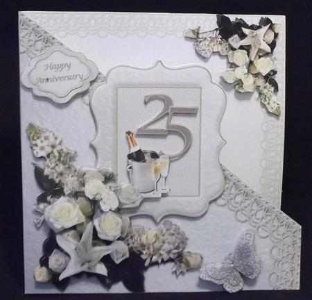 Silver Wedding - 4-sheet Mini-kit in Card Gallery