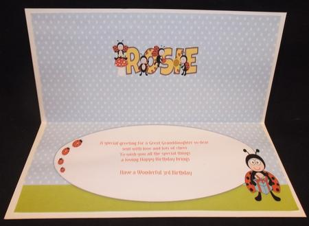 Cute Ladybirds Rosie Large Dl Insert in Card Gallery