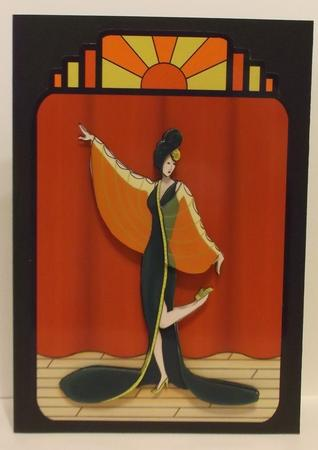 Roaring Twenties Art Deco Lady 1920's in Card Gallery