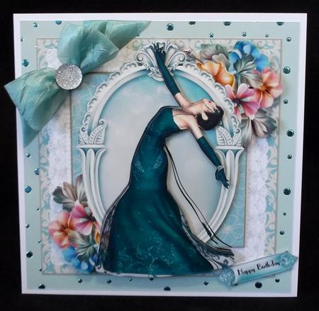 The Art Deco Beauty Card Front Kit in Card Gallery
