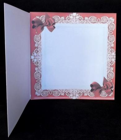 Red Lace with Bows 8x8 Insert in Card Gallery