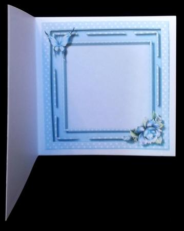 Incert with Blue Roses , in Card Gallery