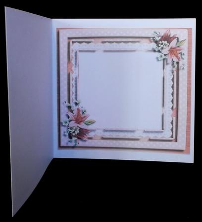 Incert with Pink Flowers , in Card Gallery