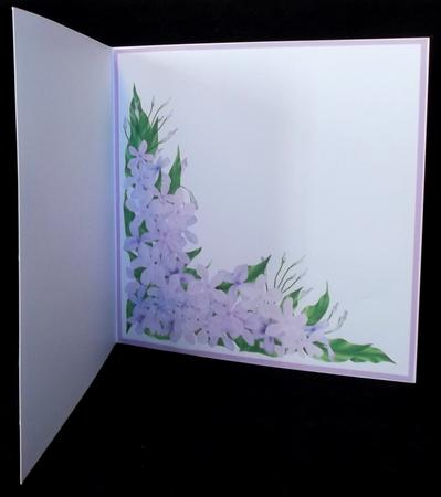 Flowered Corner Easter Wisteria Insert 8x8 in Card Gallery