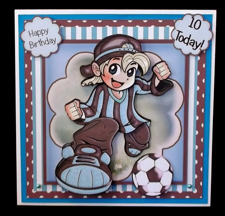 Football Crazy Claret and Blue Card Front Kit in Card Gallery