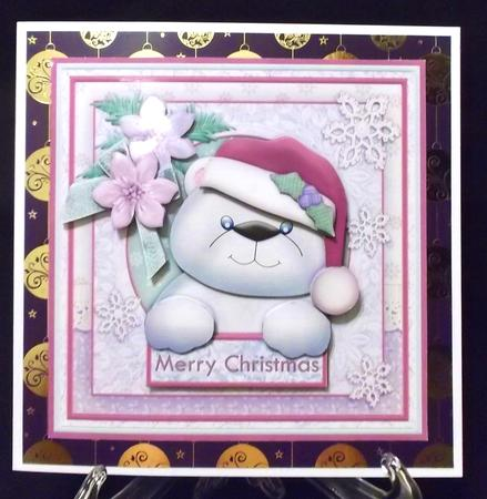 Shabby Chic Polar Bear 8x8 Christmas Mini Kit & Decoupage in Card Gallery