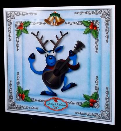 Singing Reindeer 8x8 Mini Kit in Card Gallery