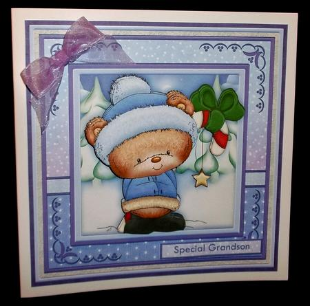 Christmas Candy Star Ted 7.5 Mini Kit with Decoupage in Card Gallery