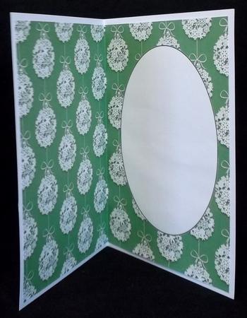 Lace Christmas Bauble Insert 18 in Card Gallery