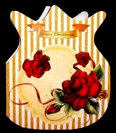 Gold Striped Christmas Bag in Card Gallery