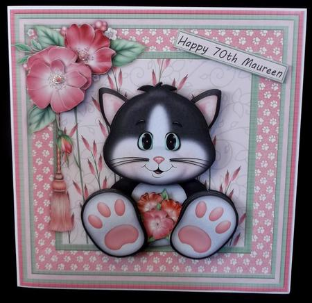 Cat's Whiskers Card Mini Kit & Decoupage in Card Gallery