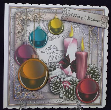 Baubles and Candles Card Front in Card Gallery