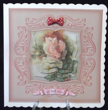 Vintage Roses Swirly Frame Pyramage in Card Gallery