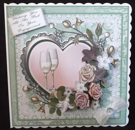 Wedding, Anniversary, Engagement Topper with Decoupage in Card Gallery