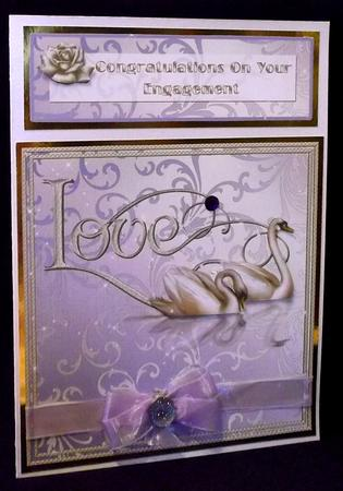 Congratulations on Your Engagement 8 x 8 Card in Card Gallery