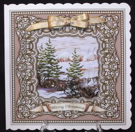 Christmas Trees 1 - 7 Inch Square Mini Kit in Card Gallery
